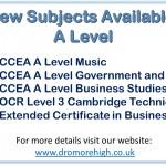 4 new subjects advert