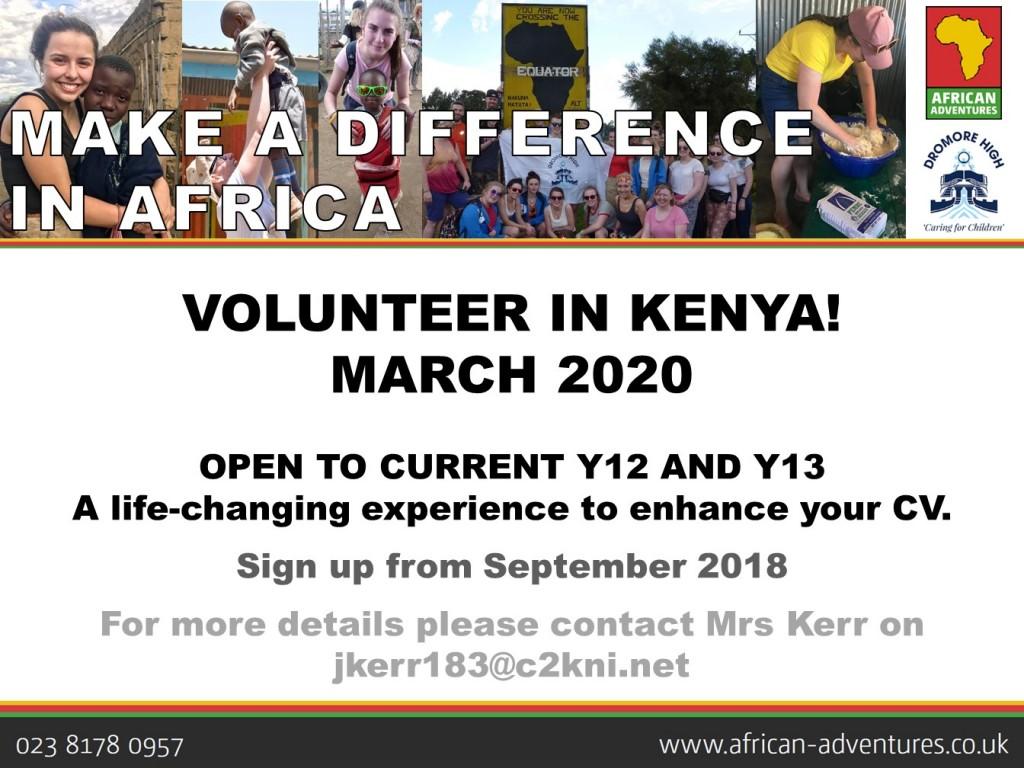 Kenya Trip March 2020 - launch advert
