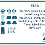 PE Kit Y8 Sales dates