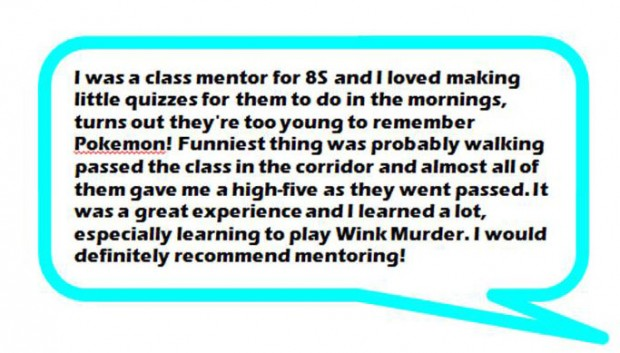 Peer mentoring comment 4